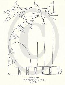 Free Primitive Craft Patterns | Chestnut Junction - Star Cat | crafts