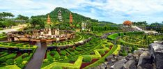 The Nong Nooch Tropical Garden is listed (or ranked) 25 on the list Beautiful Patterned Landscapes That Almost Don't Look Real Most Beautiful Gardens, How Beautiful, Beautiful Images, Flora Garden, Famous Gardens, Garden Park, Plantar, Nature Reserve, Chiang Mai