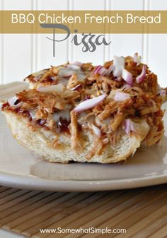 Have you tried this BBQ French Bread Pizza? Delicious + simple!