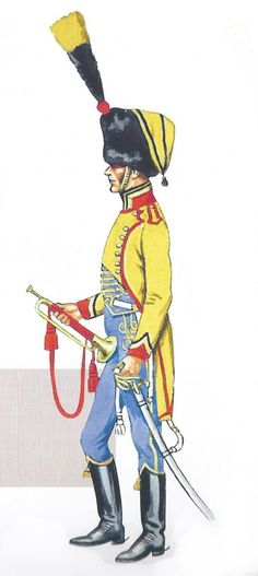 French; 9th Hussars, Trumpeter