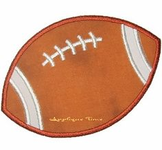 Football Applique - 3 Sizes! | Football | Machine Embroidery Designs | SWAKembroidery.com Applique Time
