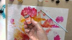ALCOHOL INKS ON DELI PAPER - BACKGROUNDS