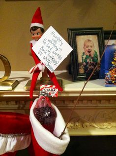 """Naughty List Warning"" Elf on the Shelf"