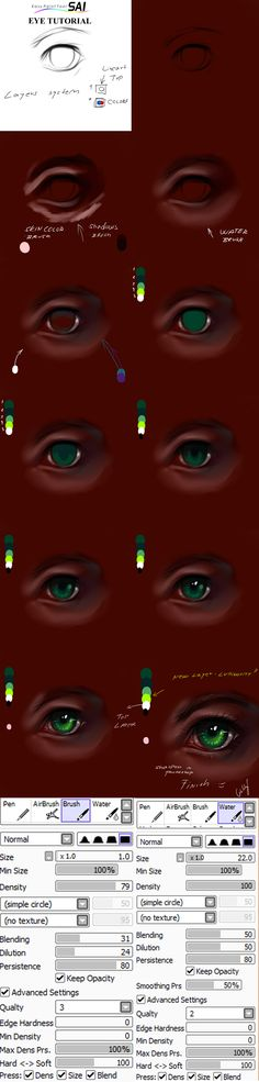 Paint tool SAI eyes tutorial by ryky.deviantart.com on @deviantART