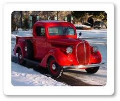 1939 Ford Pickup....some day I will have a vintage red pickup for driving slow on Sunday afternoons, but first I need a larger garage.
