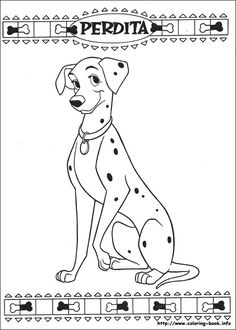 101 Dalmatians Coloring Page from coloring-book.info