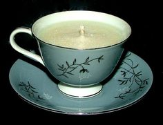 White Musk Tea Cup Candle Set