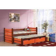 Pat din lemn de pin pentru copii Mateus Bunk Beds, Toddler Bed, Storage, Modern, Praha, Furniture, Home Decor, Houses, Child Bed