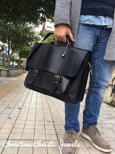 Leather Briefcase Men Black Leather by ChristinaChristiJls on Etsy Black Leather Messenger Bag, Black Leather Briefcase, Leather Men, Messenger Bags, Leather Jackets, Pink Leather, Vintage Leather, Brown Leather, Laptop Briefcase