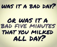 "Monday Motivation Time by Your Realtor Danny Kuta. Happy Monday! I hope you had an amazing weekend! As always I like to start the week off right with some words of motivation...  ""Was It a Bad Day... Or Was It a Bad Five Minutes That You Milked All Day?""  There are 1,440 minutes in one day... and I know it has happened to all of us... Where we have a bad 5 minutes and we allow that 5 minutes to wreck the rest of the day...  However, we can choose to not allow that bad 5 minutes negatively…"