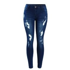 380691b2b7dae Stretch Embroidered Jeans For Women Elastic Blue Flower Jeans Female ...