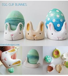 DIY Egg Cup Bunnies