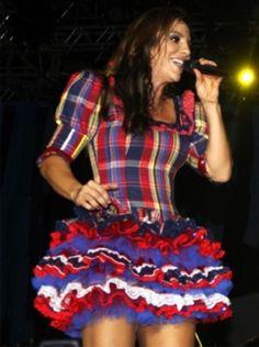 festa junina e vestidos Vestido moda para suas Festa ...