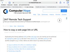 Computer Hope, how to technical