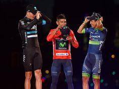 Assieme sul podio finale della Vuelta, Nairo Quintana (vincitore) ed Esteban Chaves (terzo), sono l'orgoglio della Colombia. Ultima tappa a Cort Nielsen