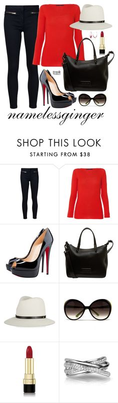 """""""CA 4"""" by namelessginger ❤ liked on Polyvore featuring Veronica Beard, Les Copains, Christian Louboutin, Marc by Marc Jacobs, rag & bone, Alexander McQueen, Dolce&Gabbana and Effy Jewelry"""