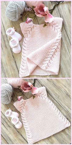 Knit Lil' Rosebud Seamless Top Down Dress Knitting Pattern