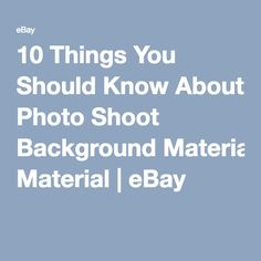 10 Things You Should Know About Photo Shoot Background Material | eBay