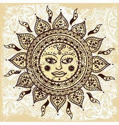 Ethnic ornamental sun vector - by transia on VectorStock®