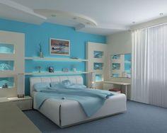 Dream Bedrooms For Teenage Girls Blue dream bedroom for teen girl colorful blue girl bedroom home