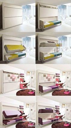 Smart hidden bed