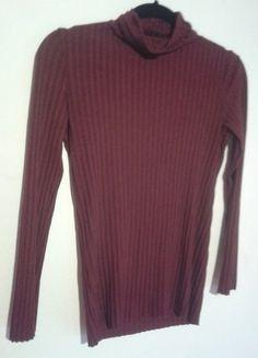 Kup mój przedmiot na #vintedpl http://www.vinted.pl/damska-odziez/bluzki-z-dlugimi-rekawami/15542788-golf-bluzka-prazkowany-bordo-mango