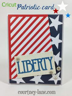 Cricut Patriotic card
