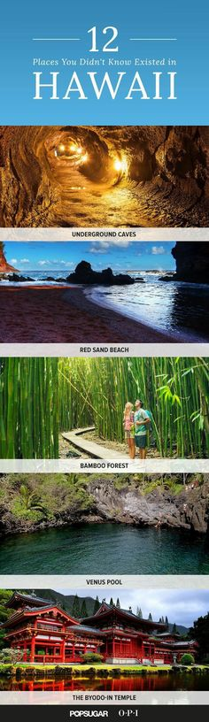 Must Visit These 12 Hidden Gems of Hawaii Things to do in Hawaii! Did you know Hawaii was home to these 12 things?Things to do in Hawaii! Did you know Hawaii was home to these 12 things? Hawaii Honeymoon, Hawaii Vacation, Vacation Places, Vacation Destinations, Vacation Trips, Dream Vacations, Vacation Spots, Places To Travel, Places To See