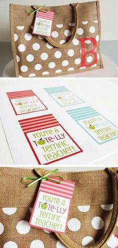 Tote-lly Terrific   20 + DIY Christmas Gifts for Teachers From Kids