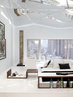 Modern bedroom with clean crisp lines
