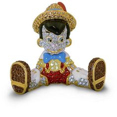Disney Parks Limited Edition Pinocchio Jeweled Figurine by Arribas Brothers New with Box