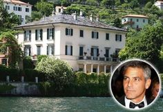2. George Clooney - When you think of sexy, it means George Clooney. Situated in Italy, this villa, called Villa Oleandra, is considerably large for a bachelor. However, as a single man with nothing to spend his money on, he is certainly more than capable of having this villa installed with an outdoor theater, swimming pool, and a huge garage where Clooney can park all his favorite cars and motorcycles in.