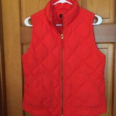 Best Orange J Crew vest. Love this vest! Perfect for multiple seasons and so comfortable. Can't beat the quality of Crew. I really liked the color until I colored my hair. J. Crew Jackets & Coats Vests