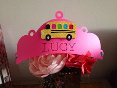 Girly Wheels on the Bus Theme Birthday Party Hat/Crown in Pink & by SharpAndChic, $10.00