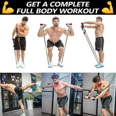 💪 Do a Full Body Workout at Home, without needing expensive bulky equipment! ✅ Hundreds of exercises for all muscle groups ✅ Stackable resistance up to ✅ Build or tone muscle, burn fat, get great results! Fitness and workout tips for a healthy life Fitness Herausforderungen, Fitness Workout For Women, Fitness Motivation, Mens Fitness, Autogenic Training, Weight Training, Interval Training, Full Body Workout At Home, At Home Workouts