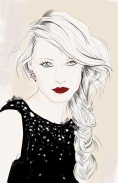 Fashion illustration by Monica Ruf, via Behance
