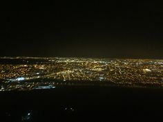 Dublin by night from the air approaching Dublin airport