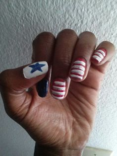 4th of july nails, by me!