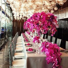 Orchids, orchids and more orchids ~ Long Wedding Tables | bellethemagazine.com