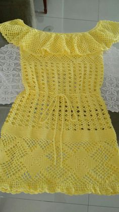 Crochet Skirts, Crochet Clothes, Cotton Crochet, Crochet Top, Sombrero A Crochet, Crochet Dishcloths, Baby Girl Crochet, Crochet Cardigan, Crochet Fashion