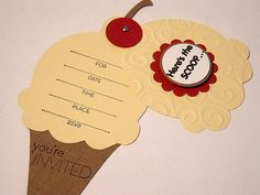 Ice Cream Party Invites by Giftz and Greetingz, via Flickr