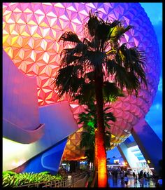 Cool shot of Spaceship Earth at Epcot