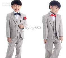 Light Grey Kid'S Formal Outfits/Children'S Formal Dress/Attire/Child'S Jacket,Vest,Pants Suits/Boy'S Three Piece Suit Mens Formal Wear Raincoats For Kids From Skying880, $90.62| Dhgate.Com