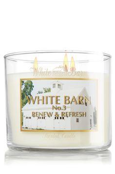 White Barn Renew & Refresh 14.5 oz. 3-Wick Candle - Slatkin & Co. - Bath & Body Works