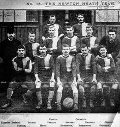 Manchester United (Newton Heath L&YR) Football Club - 1872 School Football, Football Team, Soccer Teams, Manchester United Team, Bristol Rovers, Squad Photos, Old Trafford, Fa Cup, Man United