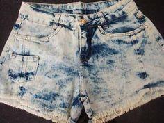 short jeans rasgado manchado curto verão calor destroyed
