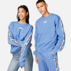 Limited Edition Sweater by FILA X Junkyard. - FILA x Junkyard collab. - Stripes along the sleeves with logos on. Adidas Jacket, Unisex, Sport, Sweatshirts, Sweaters, Mens Tops, Jackets, Clothes, Fashion