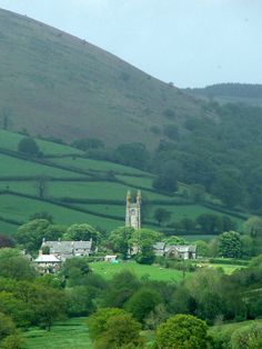 Widecombe-in-the-Moor Church, Devon, England, UK. Widecombe-in-the-Moor is a small village located within the heart of the Dartmoor National Park in Devon. The name is thought to derive from 'Withy-combe' which means Willow Valley.