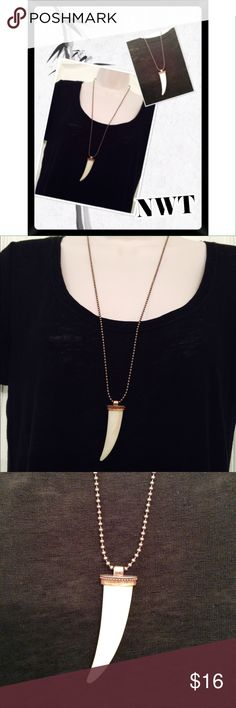 "Boho Wolf Tooth Necklace NWT Long Boho wolf tooth necklace. 32"" with 3.5"" extender. Jewelry Necklaces"