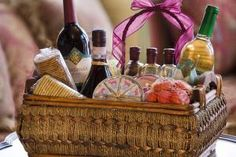 A gift basket filled with cocktail fixings is a great gift for any occasion. - Don Farrall / Photodisc / Getty Images